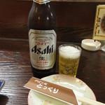 とっくり - ドリンク写真:瓶ビール(大瓶) 600円 (2019.9)