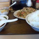 生香楼 - 青椒肉絲定食(ご飯大盛)