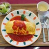 グリーンフィールゴルフ倶楽部 - 料理写真:日高村特産フルーツトマトのオムライス