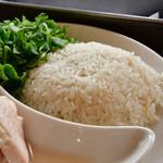 松記鶏飯 - 海南鶏飯(中)@900円:ジャスミンライスに寄る