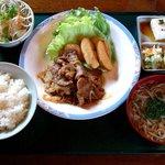 味完 - 料理写真:味完 @佐野 ランチ 生姜焼きセット 924円