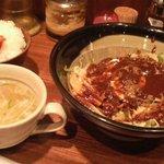 麻辣麺 雷伝 - 小黒麻辣麺セット。〆\800也。