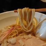 布施丿貫 - 台湾ガザミと羅臼昆布の冷やしそばの麺