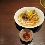 松島園 - 定食についた饂飩