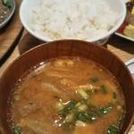 和カフェ yusoshi - 五穀米と豚汁