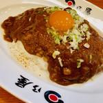 日乃屋カレー - 料理写真:ねぎたま納豆カレー ライス七分盛り
