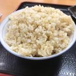 海鮮食堂おくどさん - 玄米ご飯の中盛(150円)_2019年9月