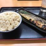 海鮮食堂おくどさん - トロサバと玄米ご飯中(572円税込)_2019年9月