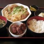 116436551 - 蕎麦屋のかつ煮定食