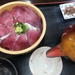 魚市場 いちわ - カツオ&マグロ 桶盛り丼(並)