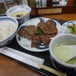 ねぎし - 牛たん三種盛りセット¥1950