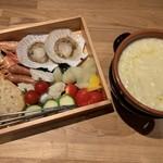 割烹バル 京ひろ - チーズフォンデュ