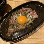 割烹バル 京ひろ - 炙りすき焼き