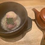 割烹バル 京ひろ - 石焼おにぎり茶漬け