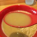 濃厚鶏白湯拉麺 乙 - スープ、超濃厚♪♪
