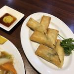 北京老飯店 - 春巻き390円。野菜だけなのでちょっと寂しい…。