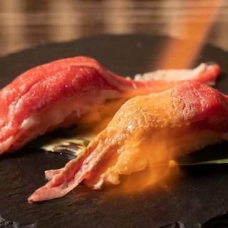 炙り和牛肉寿司食べ放題が大人気♪