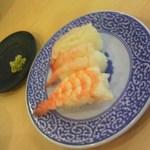 無添くら寿司 - エビ食べ比べ3点盛り 105円 (20120216)