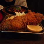 Bistro 十番スタンド - アボカドとマグロの串揚げ