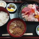 堀添食堂 - 料理写真:お刺身盛り合わせ定食¥1500-