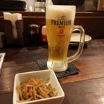 てまひま - やっとビール(^_^)/□