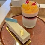 Girouette Cafe - アブソリューバニーユ(手前)とミルティーユロランジュ