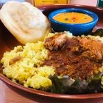 南インドの味 カレーリーフ - サンバーサダム+ペッパーチキンカレー