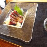 トラットリア自家製蕎麦 武野屋 - 本かつおの塩たたき