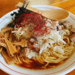 鼓志 - 料理写真:豚っ玉ねぎらーめん(麺大盛り)