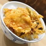 天丼 はなぶさ - とり天丼(700円)2019年9月