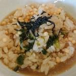 らーめんタンポポ - お茶漬け(スープ)投入