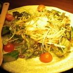一休 - 3500円コースの サラダ 上には半熟卵が。。^^