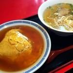 若水 - 天津飯+ラーメンセット