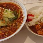 116549926 - 山椒激辛麺と麻婆丼