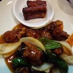 牡丹江 - 2012・酢豚ランチ・酢豚&骨付き焼き豚