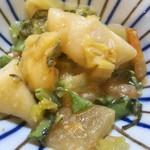 ミルクランド - ★人参、根菜、いんげんのごった煮 白味噌と芋、根菜、葉物野菜等小さい小鉢に色んな野菜が入ったごった煮は野菜の甘みも感じて美味しい