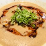 麺 やまらぁ - 坦々つけ麺   スープ アップ