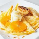 オレンジのクレープシュゼット