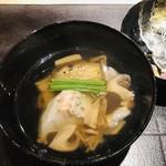 116561655 - 長崎県五島列島産のクエ 松茸 茄子 シメジ