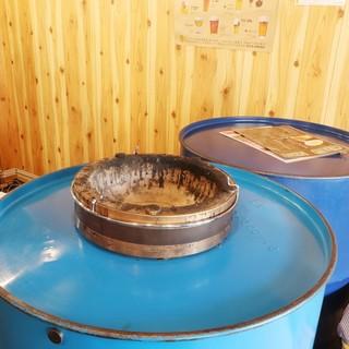 地域初!ドラム缶焼肉