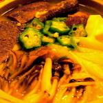 よろずキッチン たゆたう - なべ・石狩・角切り牛タン(750円)