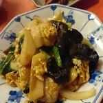 Shanhaichikinootsukashoukakurou - 豚肉と木耳の玉子炒め