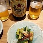 Gyouzatonikomisakanayasushishin - 早く出来るメニュー やみつききゅうり380円