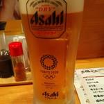 たべてやのんでや - 生ビールはスイーパードライ。