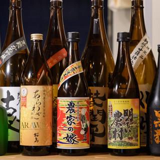 九州産の焼酎をはじめ、お飲み物も多彩にご用意しております◎