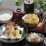 天ぷら つな八 - 季節ランチ  えびと秋野菜定食
