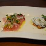 ファリナモーレ - 庄内浜のお魚の前菜2種