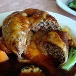 イノ文化洋食 - ハンバーグチーズ焼き