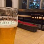 キッチン 大宮 - ◆キリン 一番搾り生ビール 702 冷えたグラスにエンジェルリングは合格。キレがあって美味い。