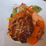 キッチン 大宮 - ◆洋食デラックスボウル大盛り 2,190 彩野菜のスープ付き
